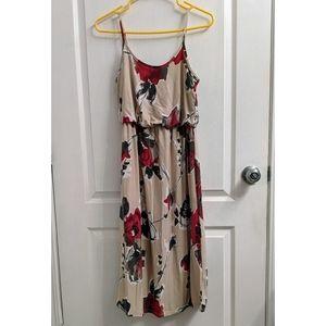 Chris & Carol midi floral dress size Medium